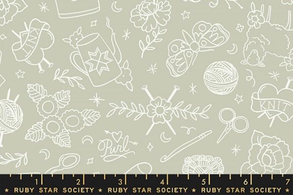 Ruby Star Society Purl by Sarah Watts Yarn Flash Wool