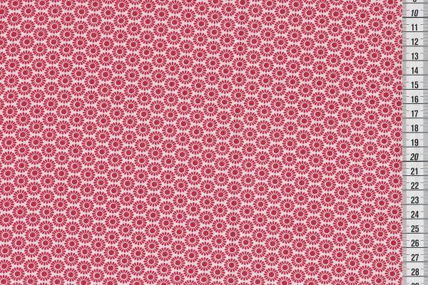 Baumwollpopeline Hilde Blüten rot