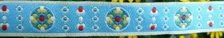 Blumkees himmelblau Webband