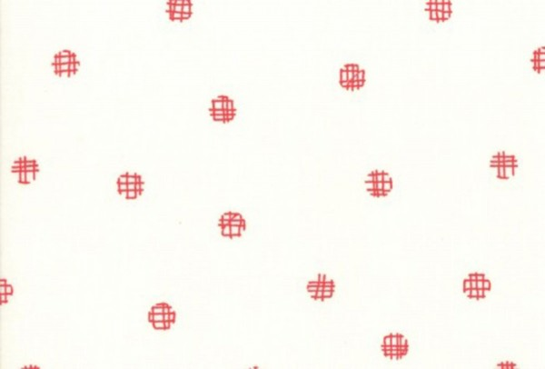 Just Red by Brigitte Heitland cross my dots white