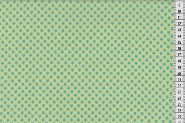 Wachstuch Stars pistachio/azur