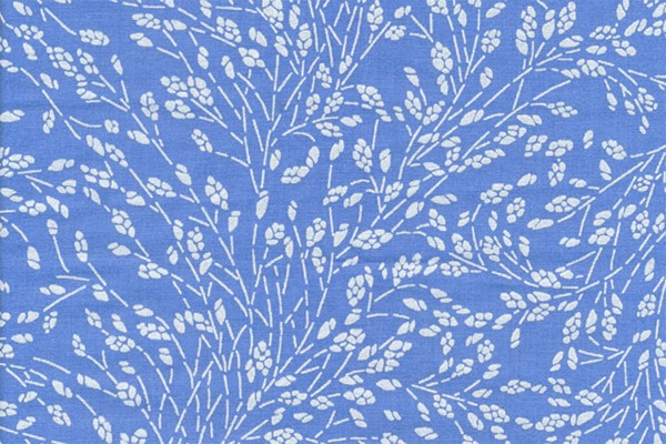 Wachstuch Oilcoth Meadow French Blue