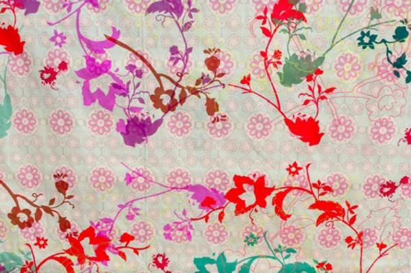 Reststück Baumwollprint Flora