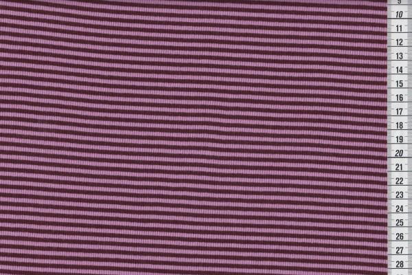 Ringelbündchen aubergine/rosa