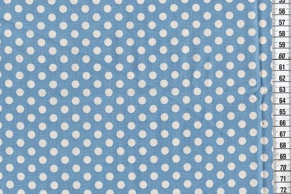 Baumwolldruck Tilda Medium Dots blue