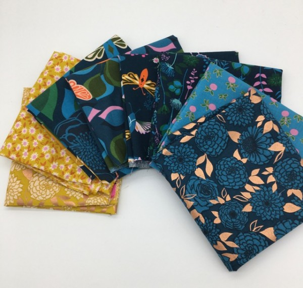 Fat Quarter Set Ruby Star Society Stay Gold peacock