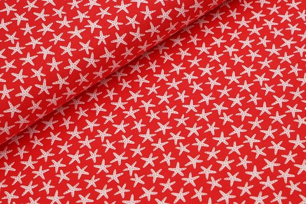 Biojersey Stoffonkel Starfish red