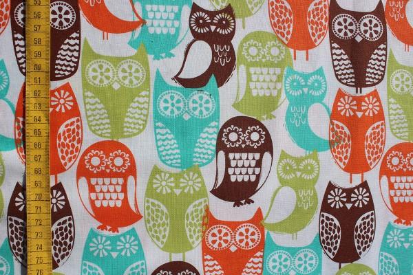 Baumwolldruck Swedish Owls for Michael Miller