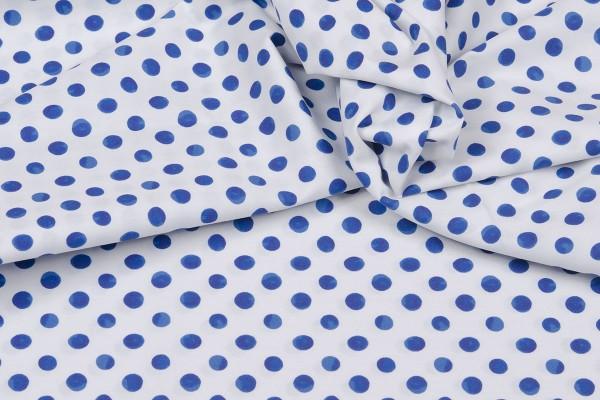Baumwollpopeline Emilie Punkte blau/weiß