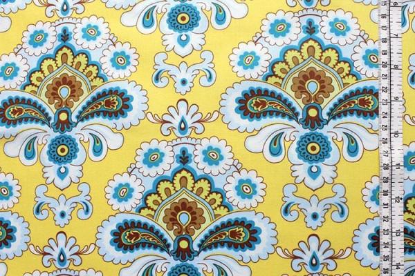 BELLE EARTH & SKY French Wallpaper Mustard