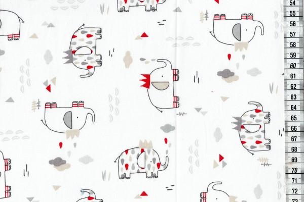Baumwolldruck Elefanten