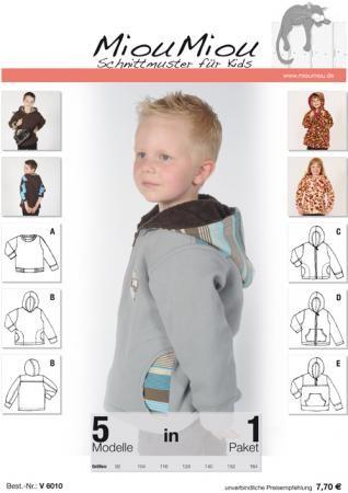 Miou Miou Schnittmuster Kinder V6010 | Kinder | Miou Miou ...