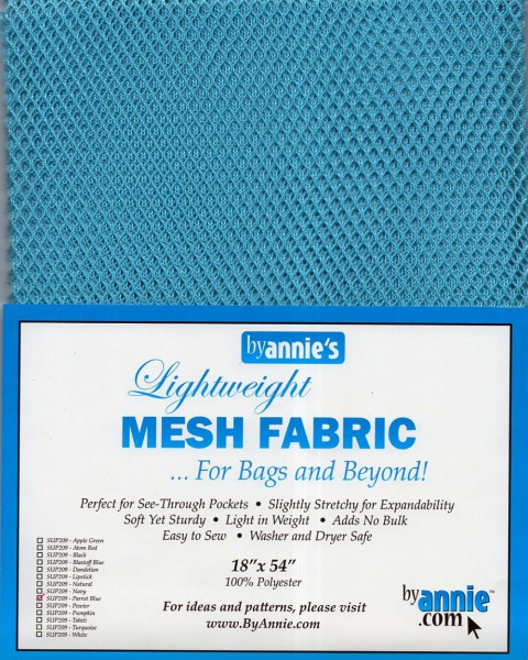 by annie's Mesh Fabric lightweight parrot blue