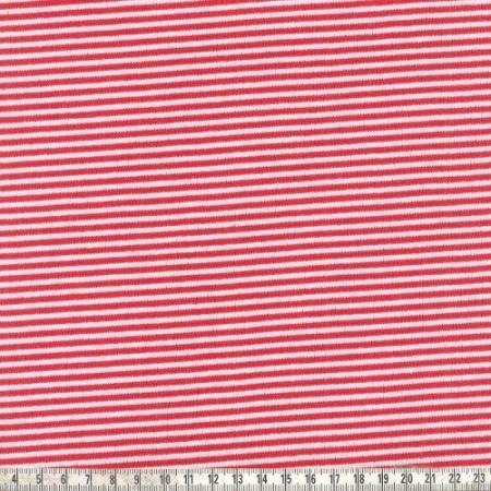 Ringelbündchen Andre rot/weiß