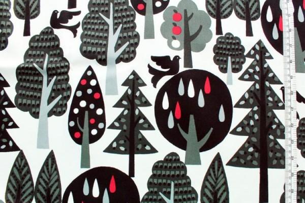 COSMO Wald schwarz weiß