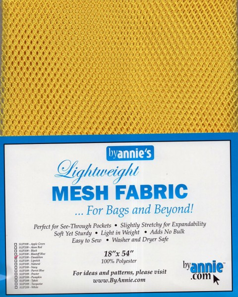 by annie's Mesh Fabric lightweight dandelion