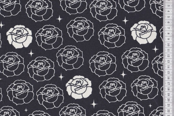 Birch Bio Canvas Tall Tales Stamped Roses Dusk