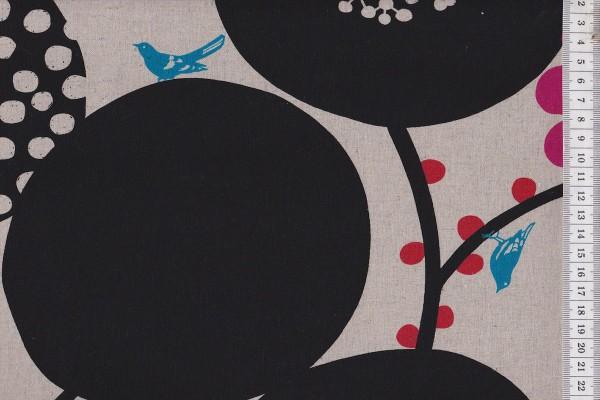 Wachstuch Echino Big berry black