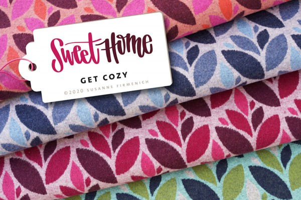 Sweet Home Jacquard Get Cozy Wooltouch pink Hamburger Liebe