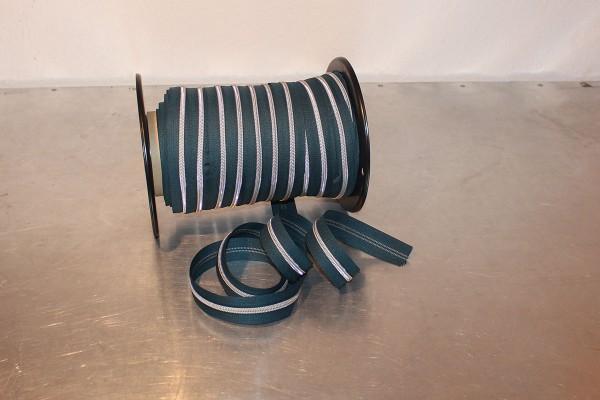 Reißverschluss metallisiert dunkelpetrol/silber breite Raupe