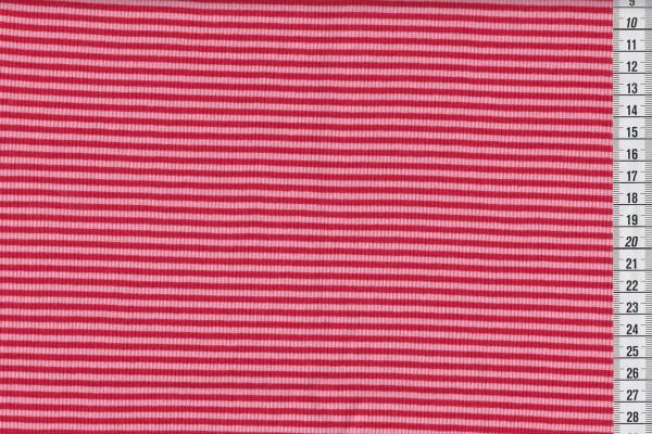 Ringelbündchen rot/rosa