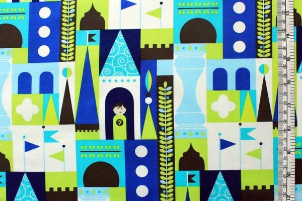 LES MONSIEURS RETRO castle blocks blue