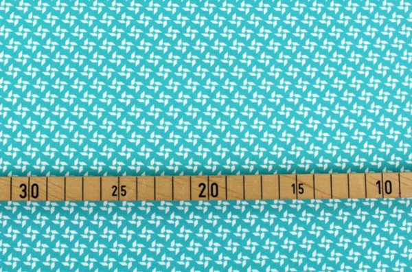 Bio Stretchjersey pinwheels blue curacao