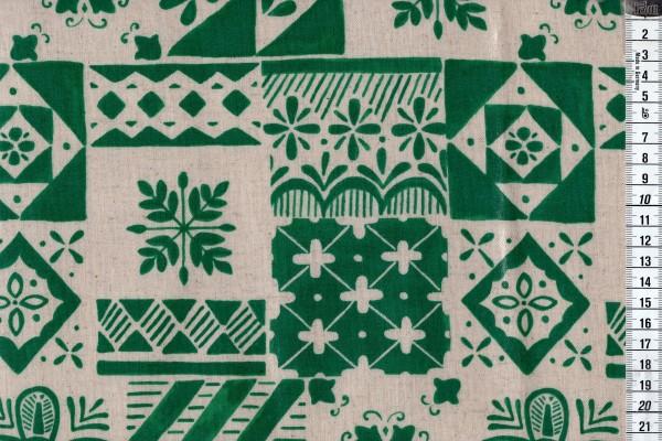 Wachstuch Tréfle Kokka Kachelmuster grün