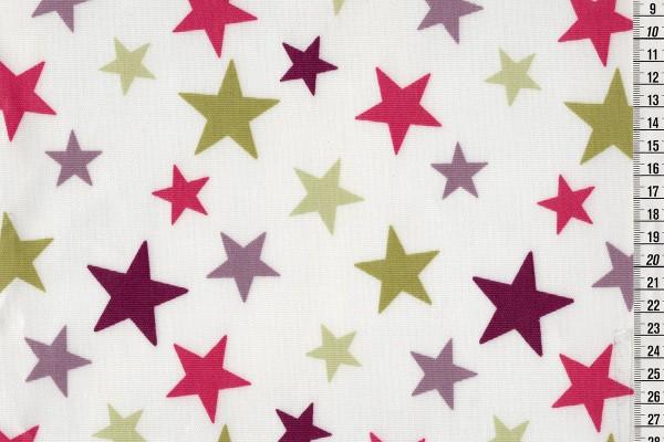 Wachstuch Star big purple
