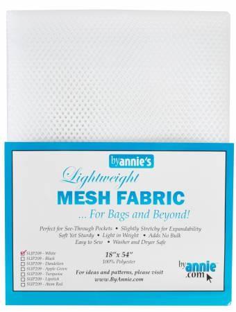 by annie's Mesh Fabric lightweight white