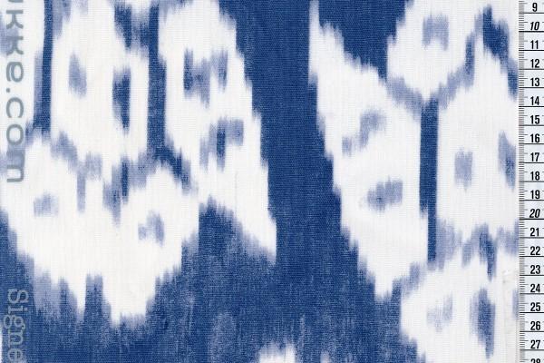 Wachstuch Streifen Ikat indigo
