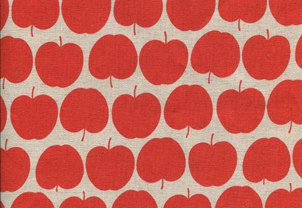 Leinen Appel orangerot