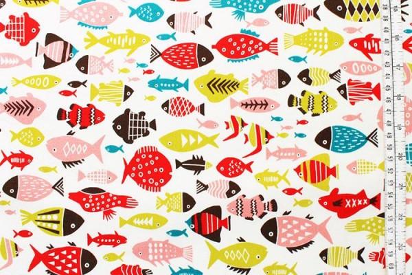 KOKKA Fische WANDA offwhite bunt