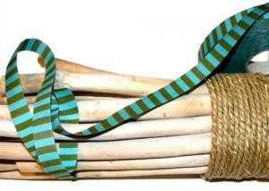 Ringelband türkis-grün