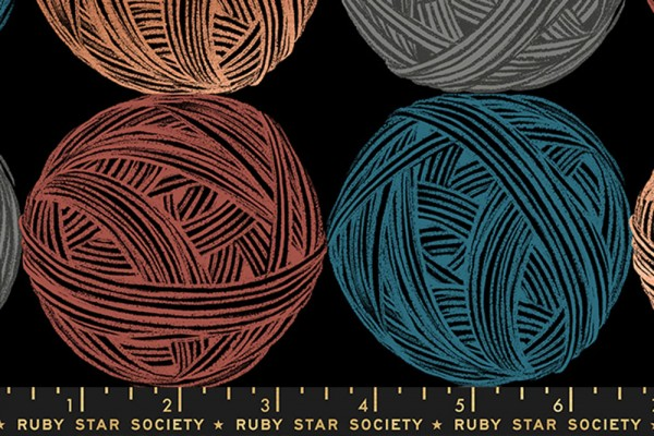 Ruby Star Society CANVAS Purl by Sarah Watts Linen Black