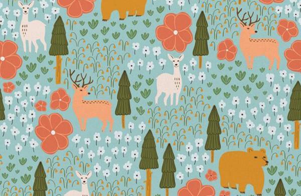 Crissie Rodda Vintage Camping forest animals