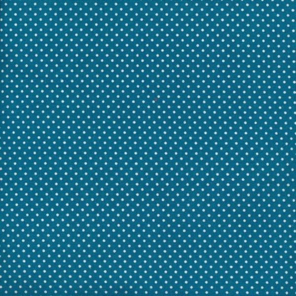 Dekostoff Dots Dark Turquoise
