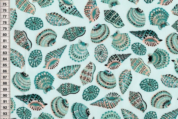 Sea Botanica by Sarah Gordon Shells aqua