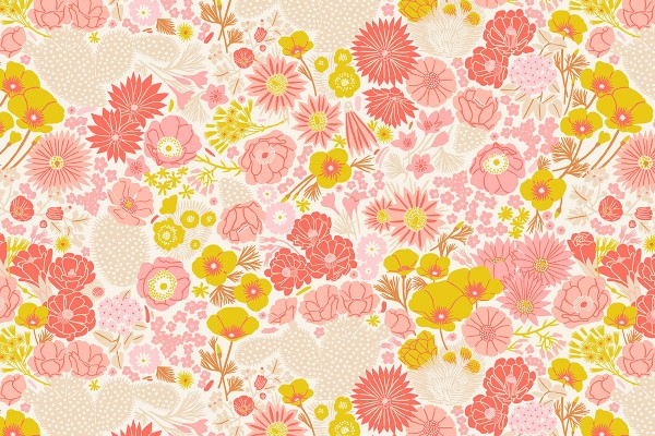 Prickley Pear by Emily Taylor Flowers beige