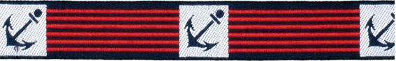 Ankerborte marine/rot gestreift