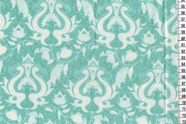 Baumwolldruck Tilda Sunkiss Ocean Flower teal