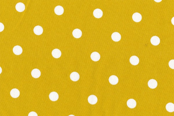 Wachstuch Oilcoth Dots Big Mustard