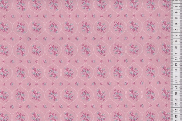 Westfalenstoffe Prinzessin Blumenornament rosé