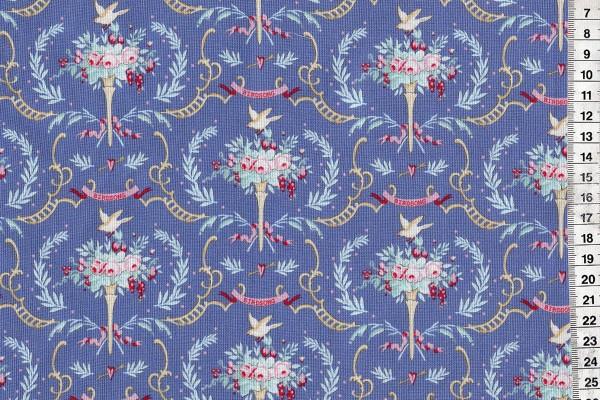 Tilda Old Rose Birdsong Blue