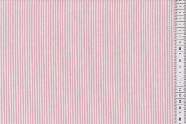 Westfalenstoffe Oxford Streifen weiß-rose