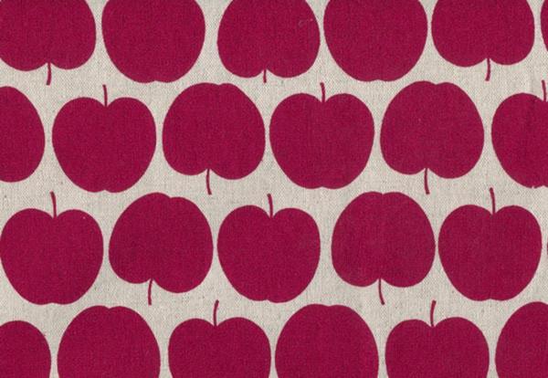 Leinen Appel dunkelrot