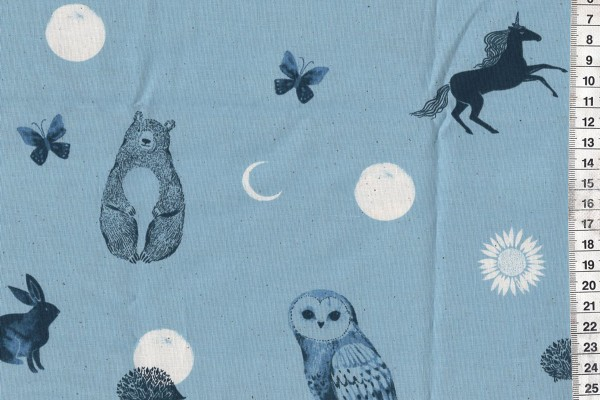 Ruby Star Society Crescent Soft Blue Forest Dot by Sarah Watts