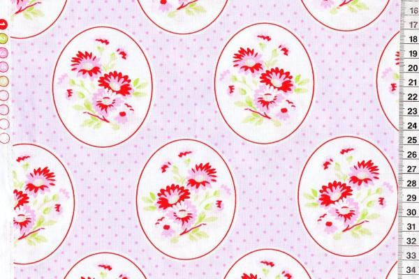 Tanya Whelan Rambling Rose Grannys Wallpaper pink