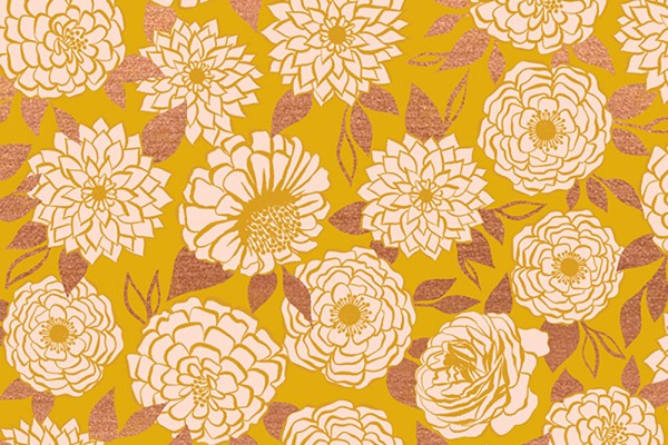 Ruby Star Society Stay Gold Melody Miller Sparkle Floral Flower goldenrod