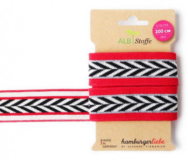 Hamburger Liebe Stripe Me Heringbone red